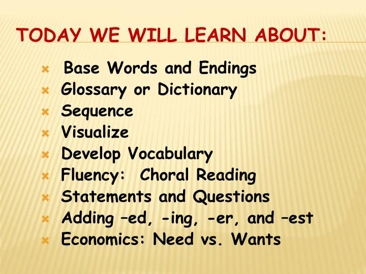 Base Words and Endings