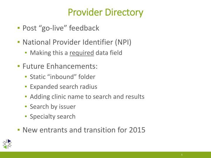 Provider Directory