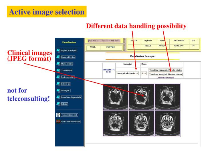 Active image selection