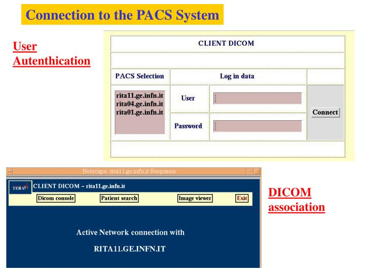 Connection to the PACS System