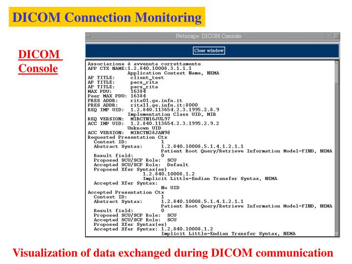 DICOM Connection Monitoring