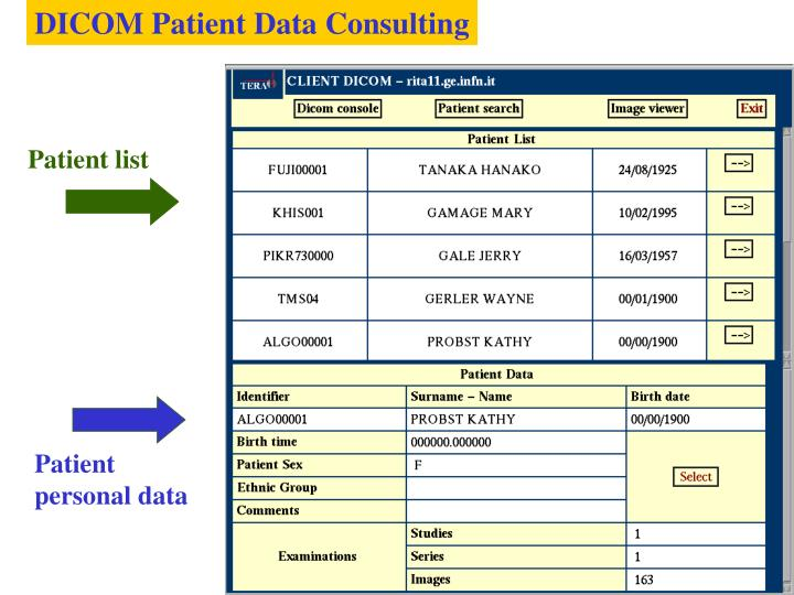 DICOM Patient Data Consulting