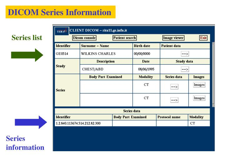 DICOM Series Information