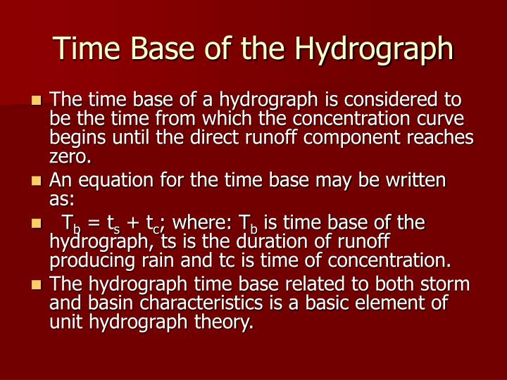 Time Base of the Hydrograph
