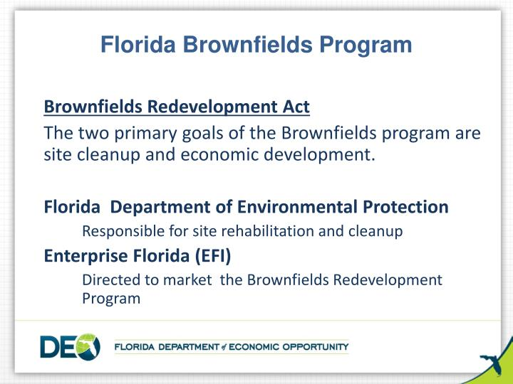 Florida Brownfields Program