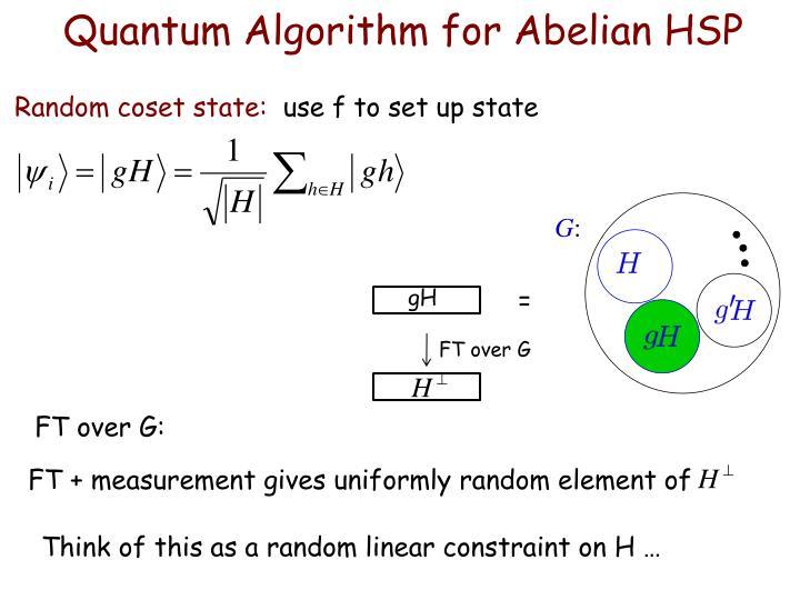 Quantum Algorithm for Abelian HSP
