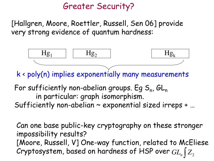Greater Security?