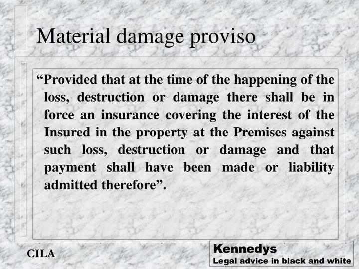 Material damage proviso