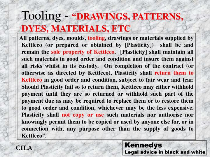 Tooling -