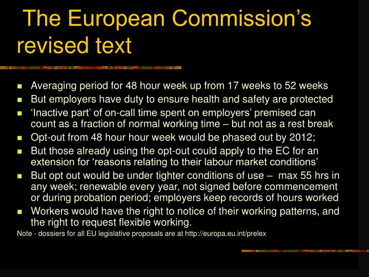 The European Commission's revised text