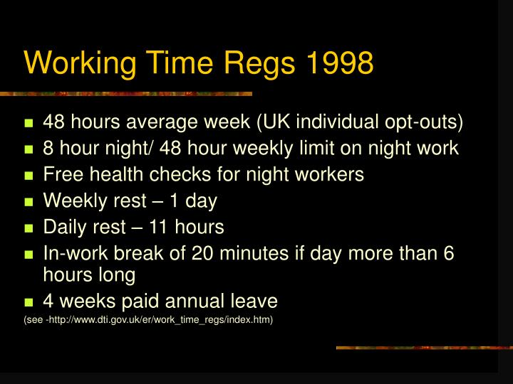 Working Time Regs 1998