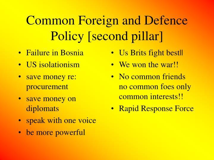 Failure in Bosnia