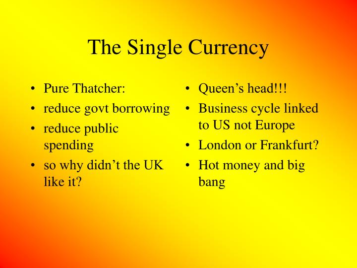 Pure Thatcher: