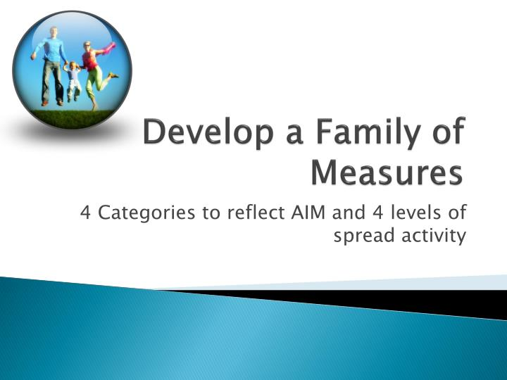 Develop a Family of Measures