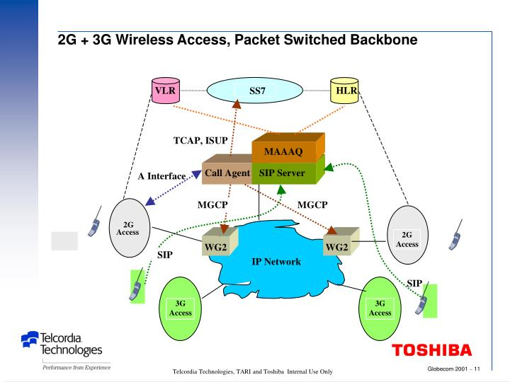 2G + 3G Wireless Access, Packet Switched Backbone