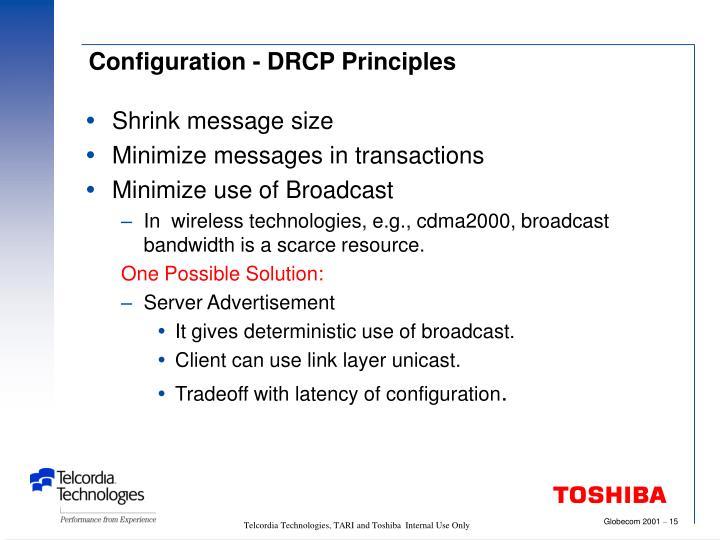 Configuration - DRCP Principles