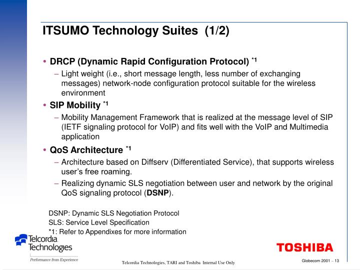 ITSUMO Technology Suites  (1/2)