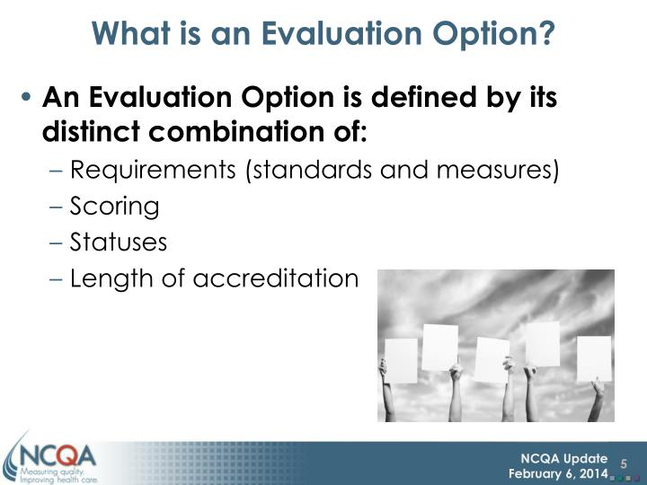 What is an Evaluation Option?