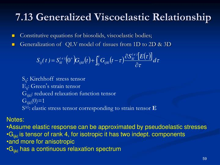 7.13 Generalized Viscoelastic Relationship