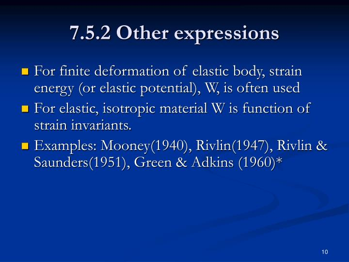 7.5.2 Other expressions