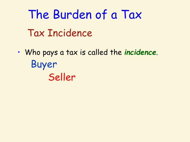 The Burden of a Tax