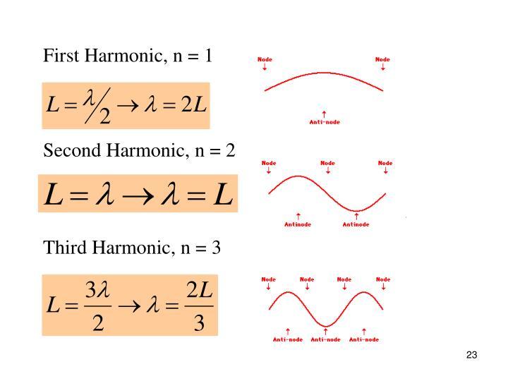 First Harmonic, n = 1