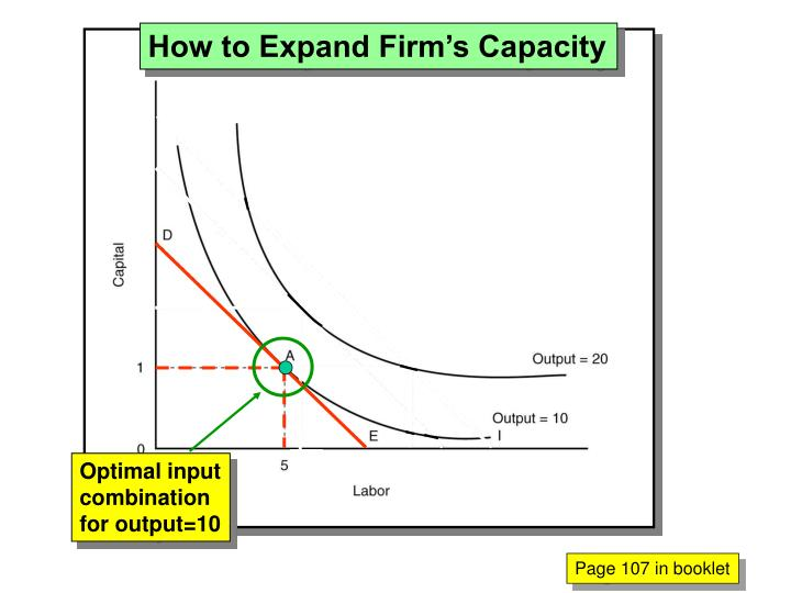 How to Expand Firm's Capacity