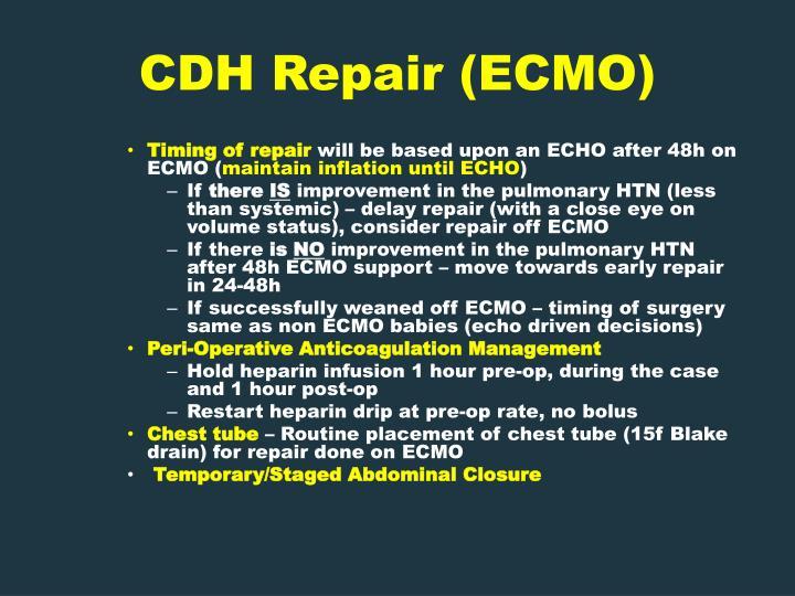 CDH Repair (ECMO)