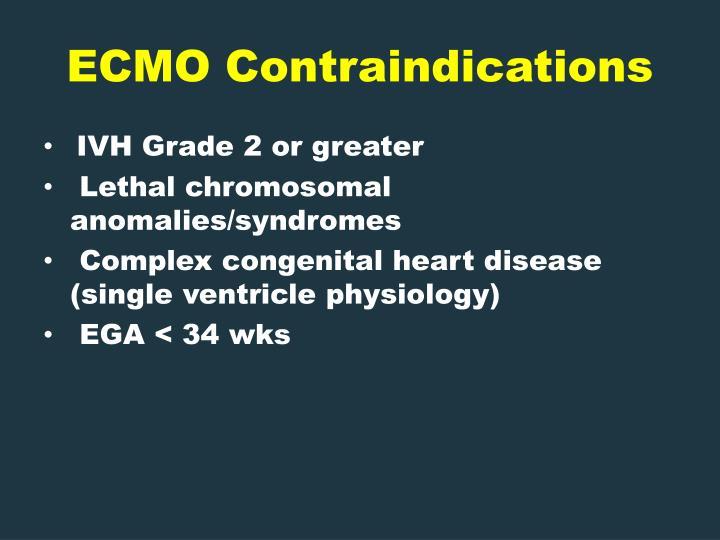 ECMO Contraindications