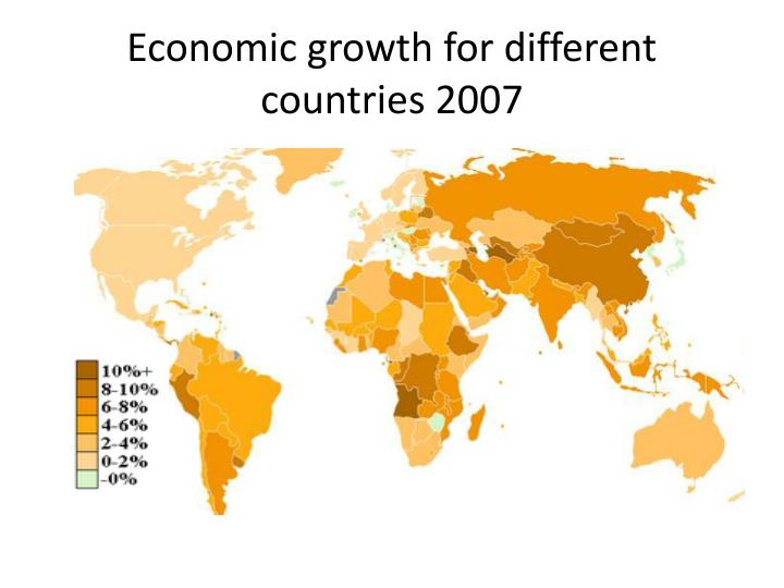Economic growth for different