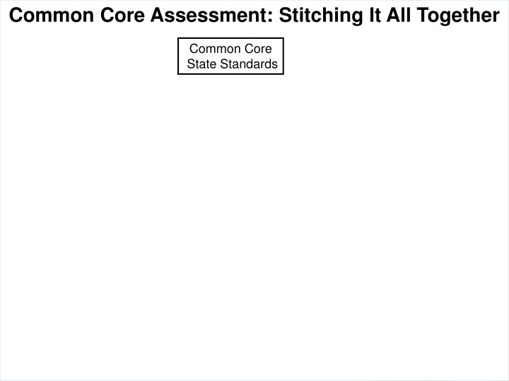 Common Core Assessment: Stitching It All Together