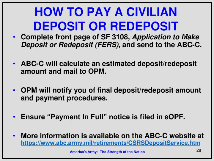 HOW TO PAY A CIVILIAN