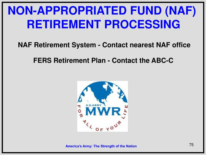 NON-APPROPRIATED FUND (NAF)