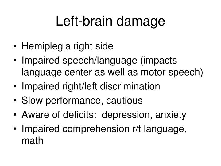 Left-brain damage
