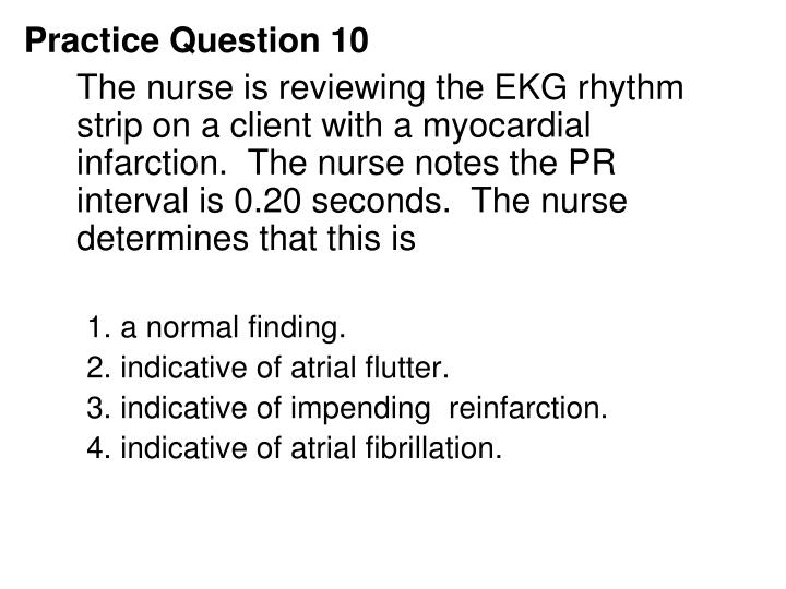 Practice Question 10