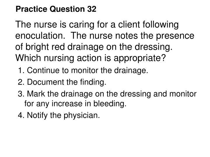 Practice Question 32
