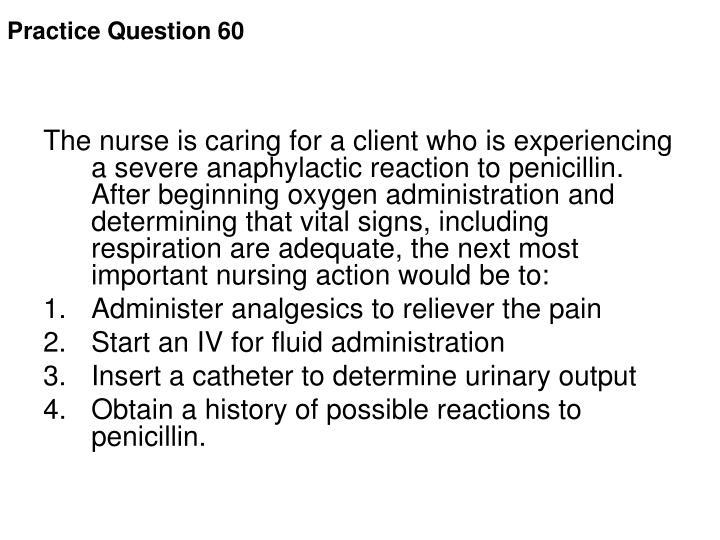 Practice Question 60