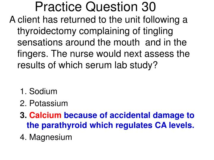 Practice Question 30