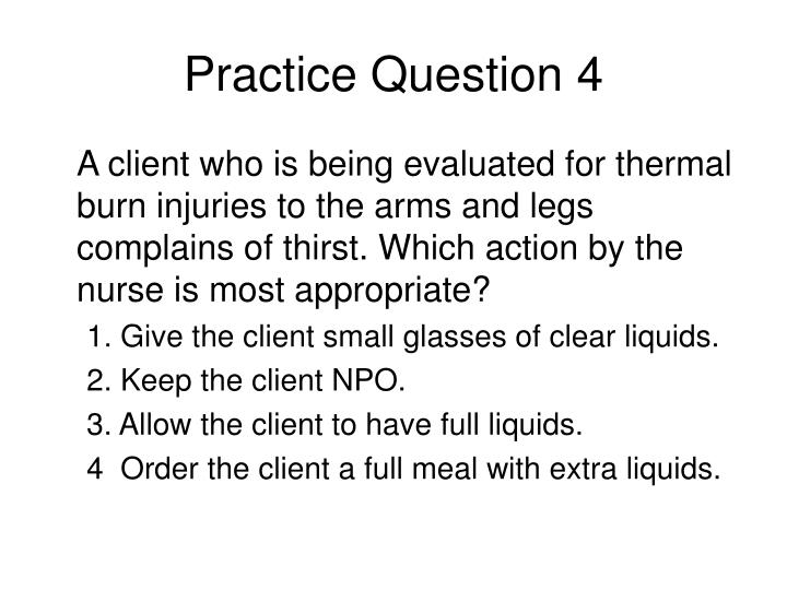 Practice Question 4