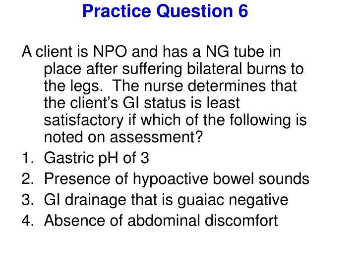 Practice Question 6
