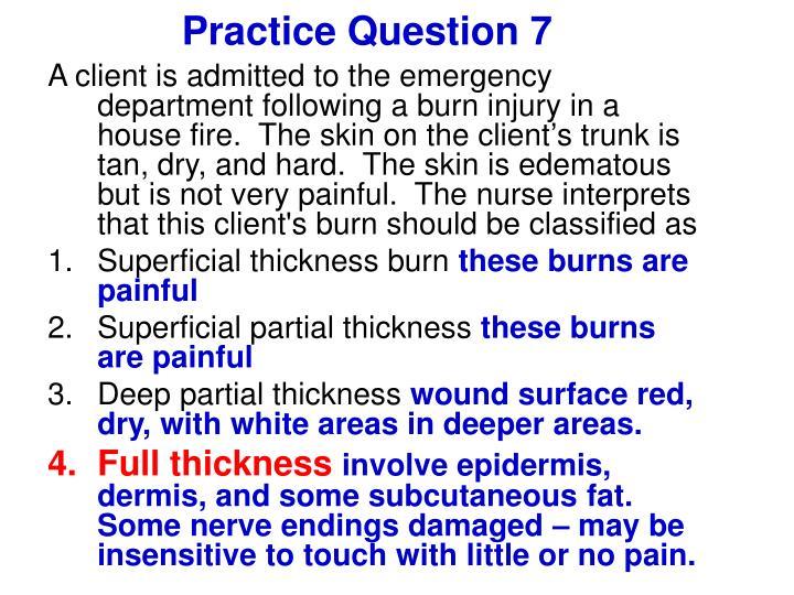 Practice Question 7