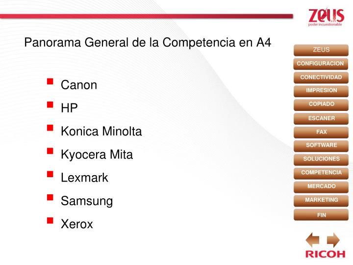 Panorama General de la Competencia en A4
