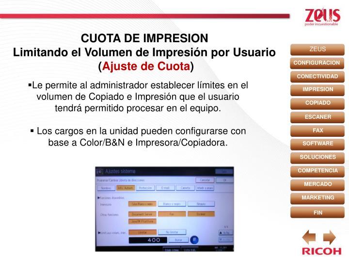 CUOTA DE IMPRESION