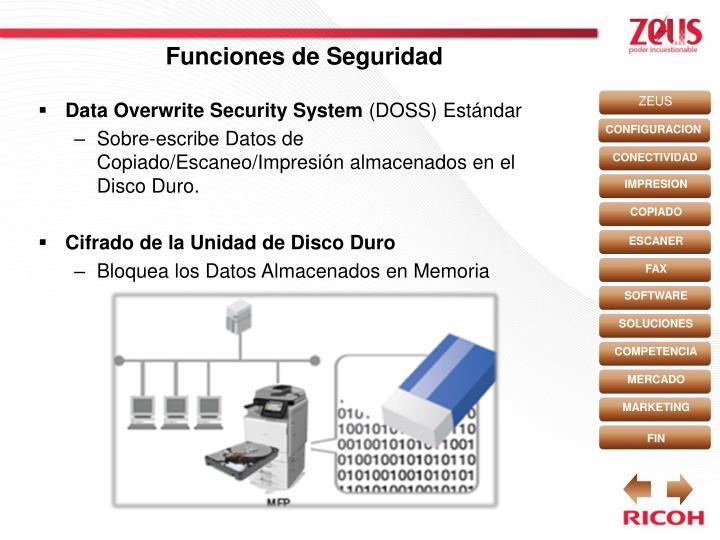 Funciones de Seguridad