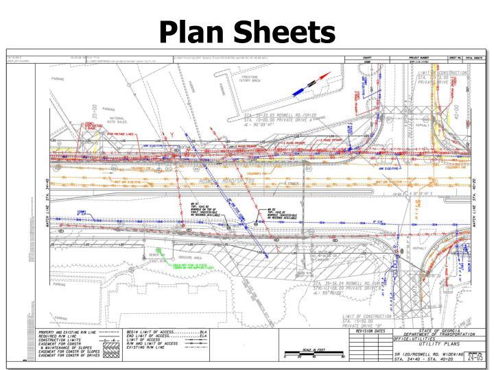 Plan Sheets