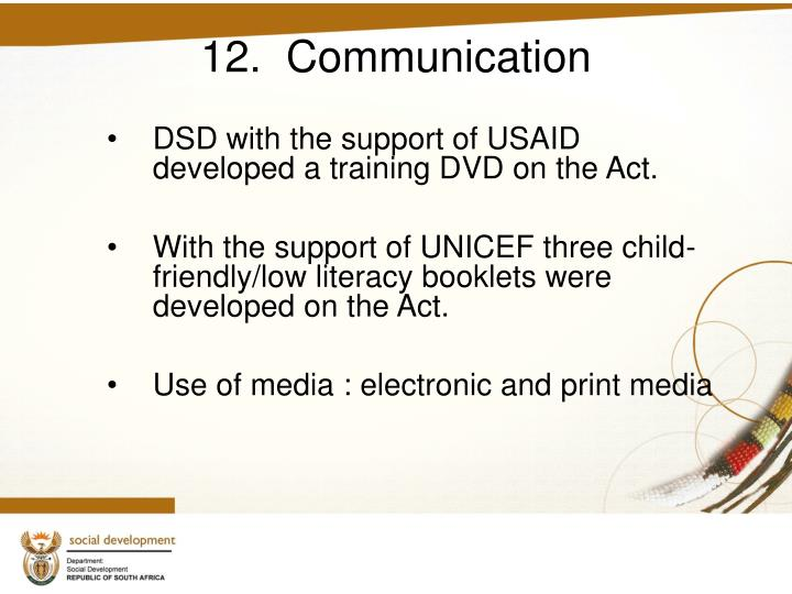 12.  Communication