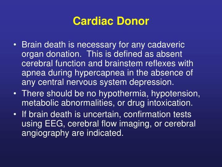 Cardiac Donor