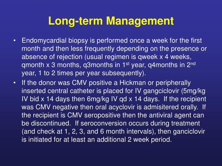Long-term Management