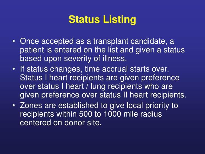 Status Listing