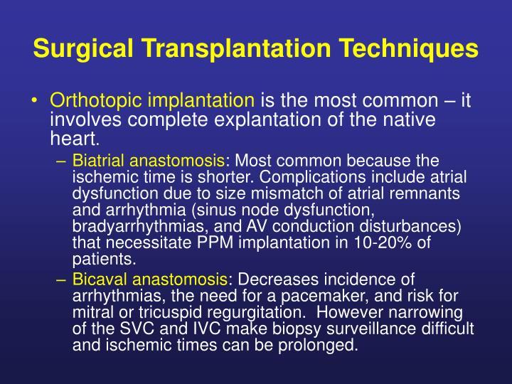 Surgical Transplantation Techniques